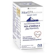 Minami MorEPA Platinum Smart Fats omega 3 + Vitamine D3 1000IU 2x60caps