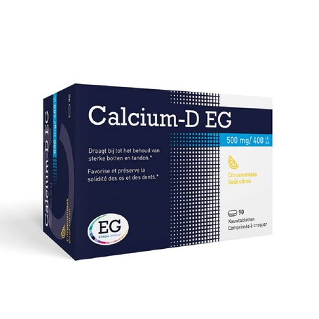 Calcium-D EG citron 500mg/400UI comprimés à croquer 90pc