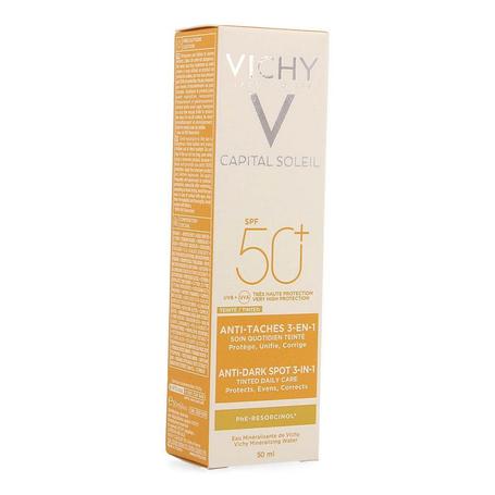 Vichy Idéal Soleil Crème teintée anti-taches 3-en-1 SPF50+ 50ml