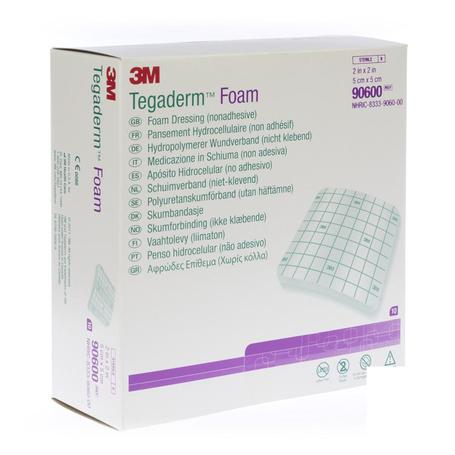 Tegaderm foam dressing 5,0x 5,0cm 10 90600