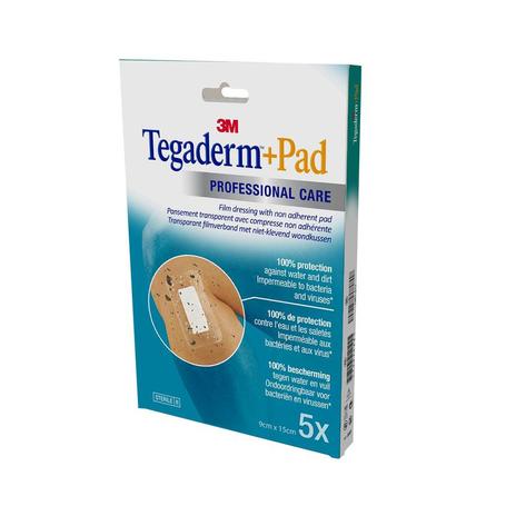 3M Tegaderm + Pad transp steril 9cmx15cm 5 st