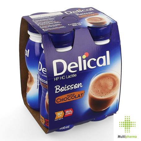 Delical Boisson lactée HP HC Chocolat 4x200ml