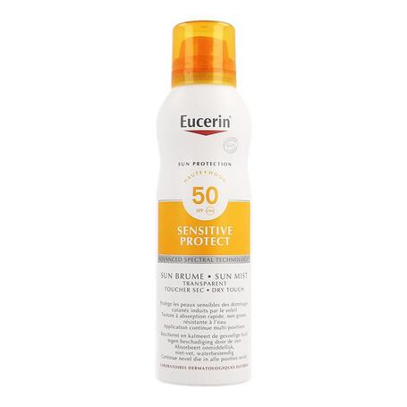 Eucerin Sun sensitive protect dry touch transparante spray SPF50 200ml