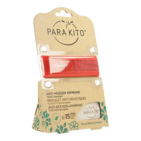 Para'Kito Bracelet anti-moustiques rouge 1pc