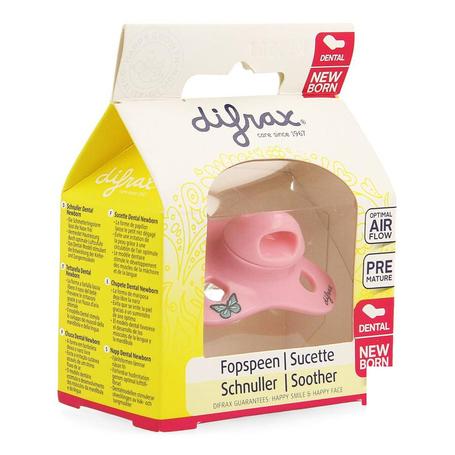 Difrax Fopspeen Newborn Dental -2/2+ maanden 1st