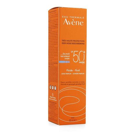 Avene Fluide zon SPF50+ zonder parfum 50ml