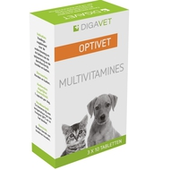Optivet multivitaminen hond kat tabletten 3x10st