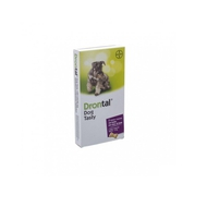 Drontal Tasty Bone 150/144/5mg 10kg Dog comprimés 6pc