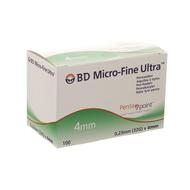 BD microfine ultra pennaald 4mm 32g 100st