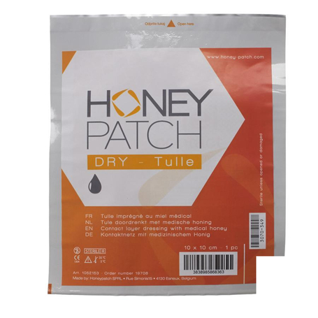Honeypatch dry pans ster 10x10cm 1 1052153