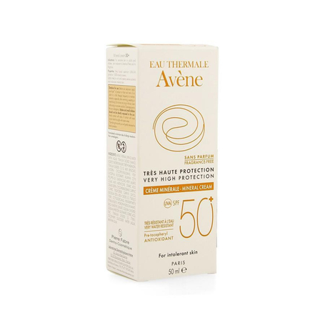 Avène Zonnecreme minerale zeer hoge bescherming SPF50+ 50ml