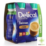 Delical HP HC drank zonder suiker koffie 4x200ml