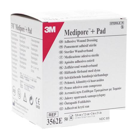 Medipore + pad 3m 5x 7,2cm 50 3562e
