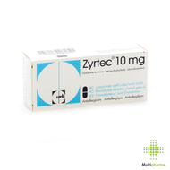 Zyrtec 10mg comp pell 40 x 10mg