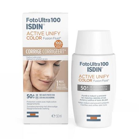 Isdin FotoUltra Active Unify Color pigmentplekken SPF50+ 50ml