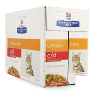 Prescription diet feline c/d stress chicken 12x85g