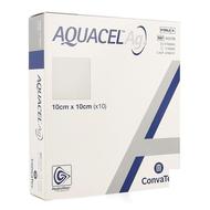Aquacel ag verb hydrofiber ster 10x10cm 10 403708