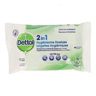 Dettol 2en1 lingettes hygieniques 12pc