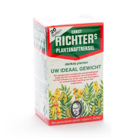 Ernst Richter Plantenaftreksel Vermagerende thee zakjes 20st