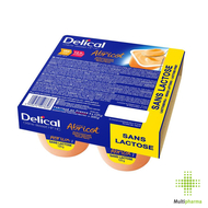 Delical Dessertcrème HP HC zonder lactose Abrikoos 4x125gr