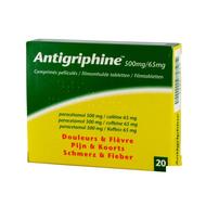 Antigriphine tabletten 20x 500mg