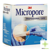 Micropore 3m tape refill 25,0mmx5m rol 1 1530p-1s