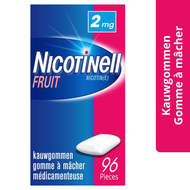 Nicotinell fruit gomme macher-kauwgom 96x2mg