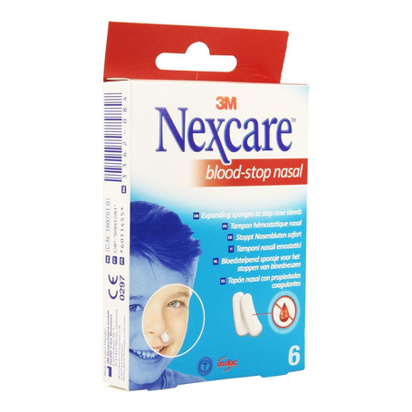 Nexcare Bloodstop nasal 6pc