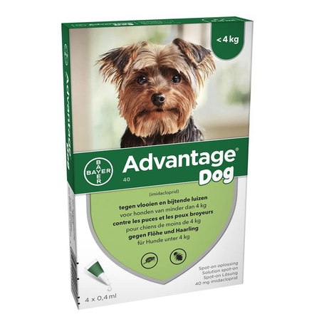 Advantage Dog 40 Chiens <4kg 4x0,4ml