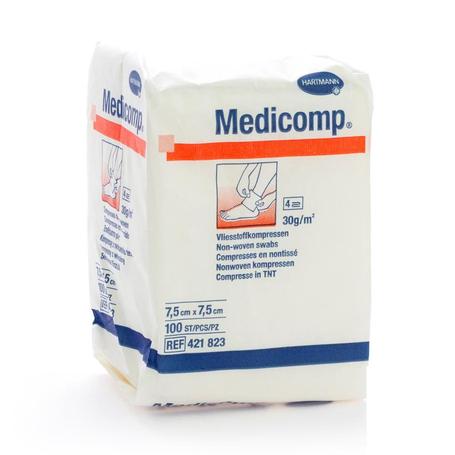 Medicomp 7,5x7,5cm 4pl. nst. 100 p/s