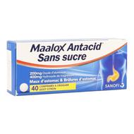 Maalox antacid ss lemon 200/400mg comp croq 40 bl.