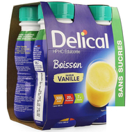 Delical boisson hp-hc s/sucre vanille 4x200ml