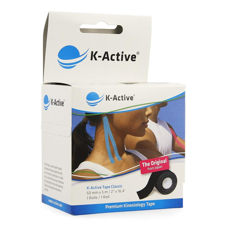 Naqi k active tape black 5,0cmx 5m