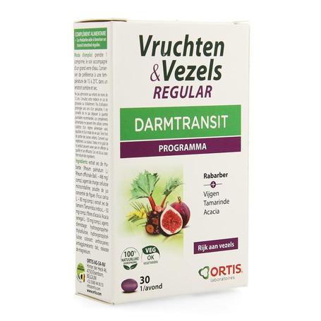 Ortis Vruchten & Vezels Regular darmtransit tabletten 30st
