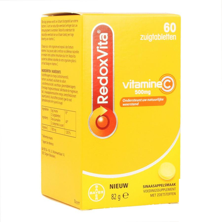 Redoxvita Vitamine C sinaasappel zuigtabletten 500mg 60st