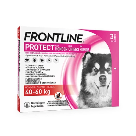 Frontline Protect spot on chien XL 40-60kg pipette 3pc