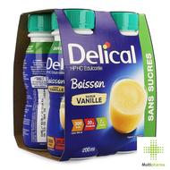 Delical HP HC Drank zonder suiker vanille 4x200ml