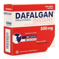 Dafalgan instant vanille fraise sachets 500mg 20pc