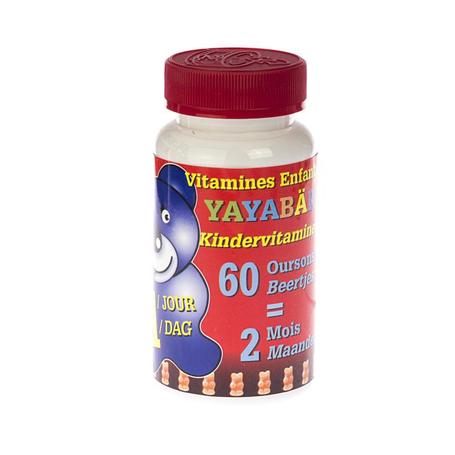Yayabar multivitaminen beertjes bonbons 60