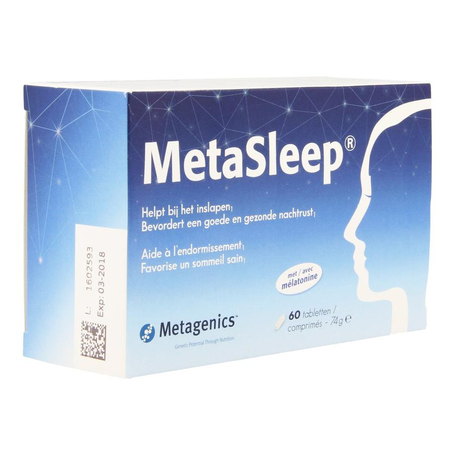 Metagenics Metasleep tabletten 60st