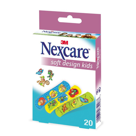 Nexcare Soft Design Enfants Strips 20pc