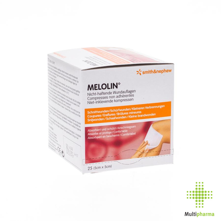 Melolin cp ster 5x 5cm 25 66030260