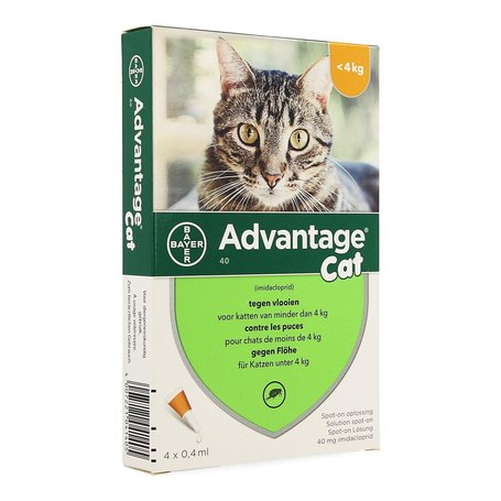 Advantage Cat 40 chat -4kg 4x0.4ml