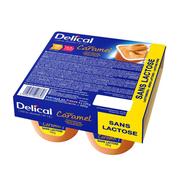 Delical Dessertcrème HP HC zonder lactose Caramel 4x125gr