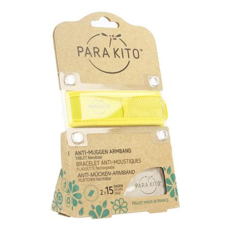 Para'Kito Anti-muggen armband geel 1st