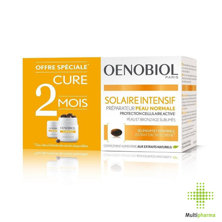 Oenobiol Cure Solaire Intensif Peau Normale 60pc