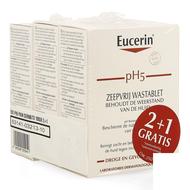 Eucerin pH5 wastablet zonder zeep 2+1 gratis