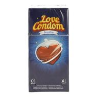 Love condom sensitive preservatif lubrifies 6