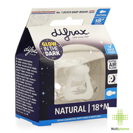 Difrax Fopspeen Natural Glow In The Dark 18+ maanden 1st