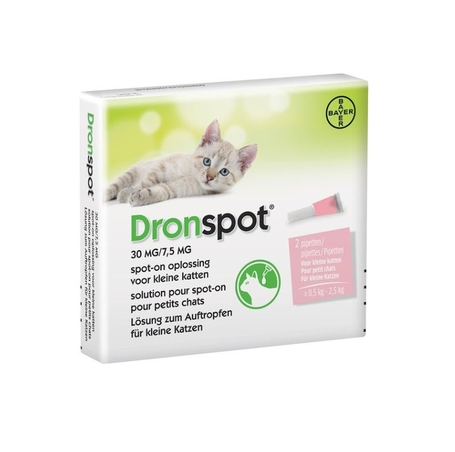 Dronspot 30mg/7,5mg spot-on chat petit >0,5-2,5kg 2pc